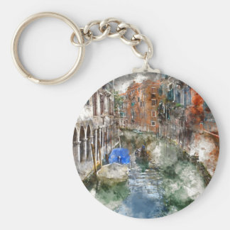 Gondeln Venedigs Italien und bunte Gebäude Schlüsselanhänger