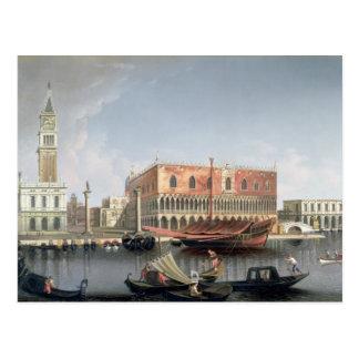 Gondeln vor St. markiert Quadrat, Venedig Postkarte
