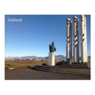 Gónhóll Monument und Hügel, Höfn, Island Postkarte