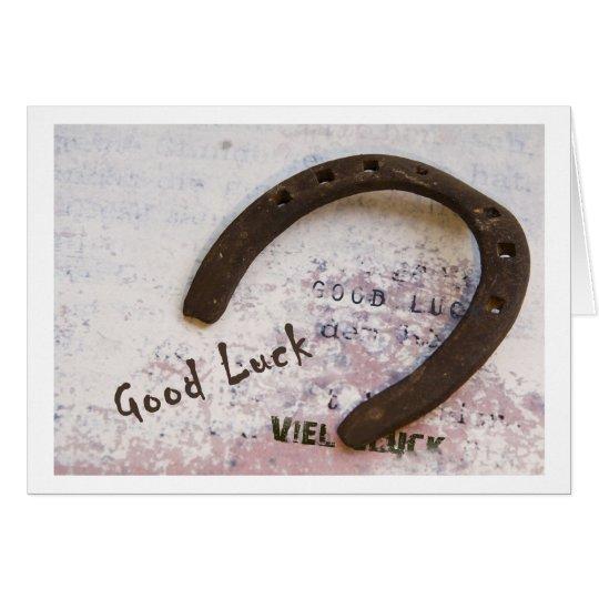 Good Luck Karte