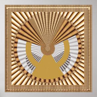 Goodluck Grafik-Perlen-Schein-GoldDeko-Spaß Poster