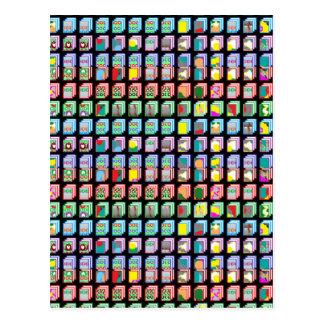 Goodluck Miniaturkunst-Geschenke Postkarten