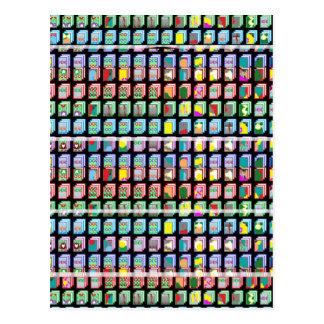 Goodluck Miniaturkunstgeschenke Postkarte