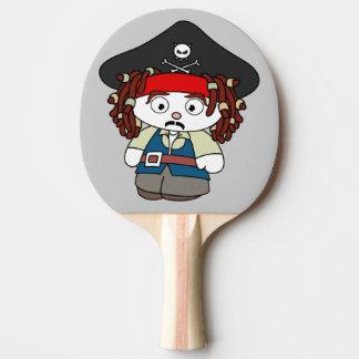 Goofy Cartoon-Pirat Tischtennis Schläger