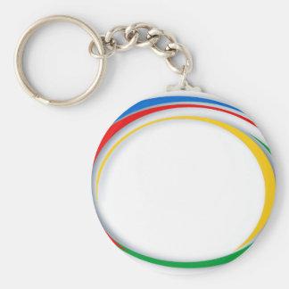 Google-Farben Schlüsselanhänger