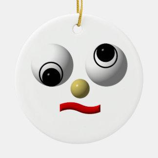 Googly-Mit Augen Gesichter Keramik Ornament