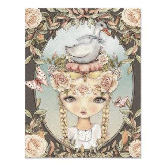 Goose Lizzy - Invitation 10,8 X 14 Cm Einladungskarte