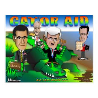Gop-Alligatorhilfe Postkarte