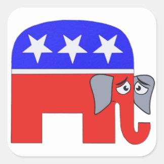 Gop-Elefant Quadratischer Aufkleber