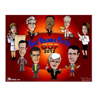 GOP erhalten Obama-Party Postkarte