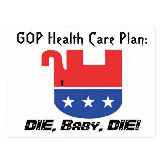 Gop-Gesundheitswesen-Plan Postkarte