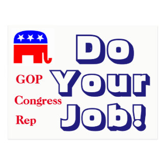 Gop-Kongreß tun Ihre Job-Postkarte Postkarte