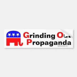 GOP: Propaganda heraus reiben Autoaufkleber