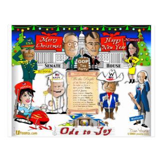 Gop- und Tee-Party-Weihnachten Postkarte