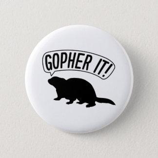 Gopher es runder button 5,1 cm