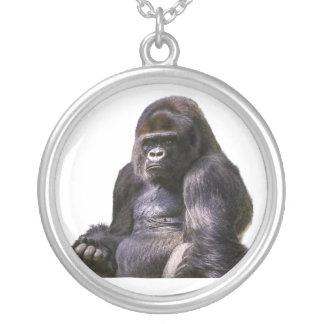 Gorilla-Affen-Affe Versilberte Kette