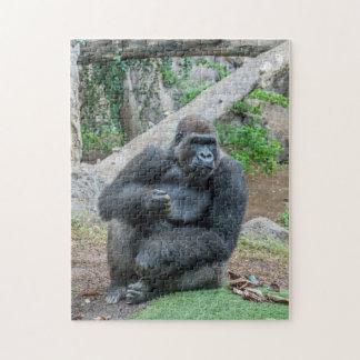 Gorilla am Zoo-Fotopuzzlespiel Puzzle