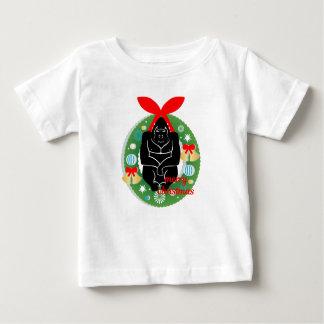 Gorilla der frohen Weihnachten Baby T-shirt