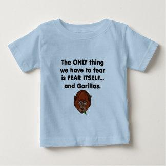 Gorilla der Furcht-selbst Baby T-shirt