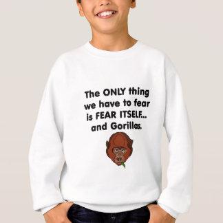 Gorilla der Furcht-selbst Sweatshirt