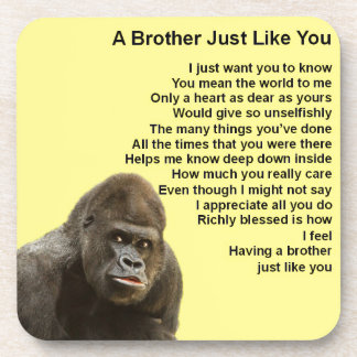 Gorilla-Entwurf - Bruder-Gedicht Getränkeuntersetzer