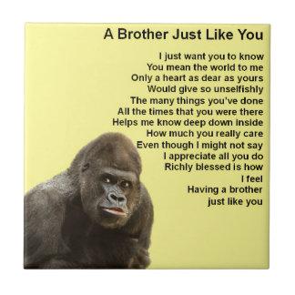 Gorilla-Entwurf - Bruder-Gedicht Keramikfliese
