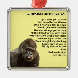 Gorilla-Entwurf - Bruder-Gedicht Silbernes Ornament