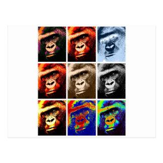 Gorilla-Gesichter Postkarten