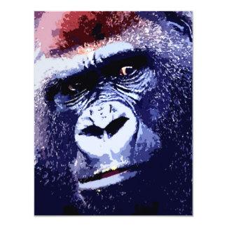 Gorilla-Gesichts-Einladungen - lustige Gorillas 10,8 X 14 Cm Einladungskarte