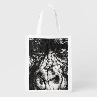 Gorilla-Gesichts-wiederverwendbare Tasche Wiederverwendbare Einkaufstasche