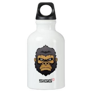 Gorilla-Hauptkarikatur Aluminiumwasserflasche