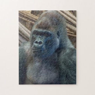 Gorilla herauf nahes Fotopuzzlespiel Puzzle