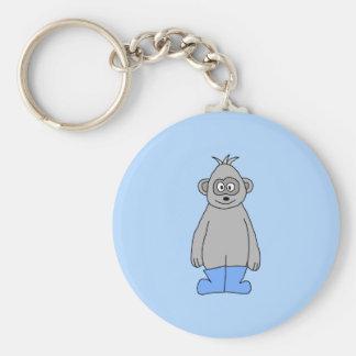 Gorilla in den blauen Stiefeln Schlüsselanhänger