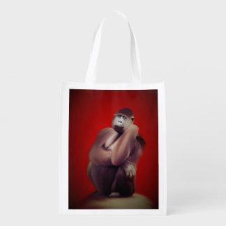 Gorilla-Kunst Einkaufstaschen