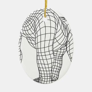 Gorilla Ovales Keramik Ornament