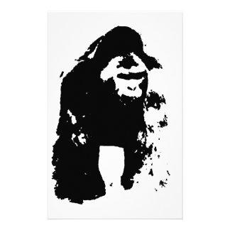 Gorilla-Pop-Kunst Briefpapier