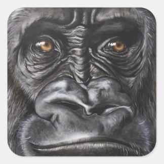 Gorilla Quadratischer Aufkleber
