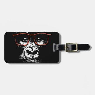 Gorilla-Rot-Gläser Gepäckanhänger