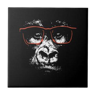 Gorilla-Rot-Gläser Keramikfliese