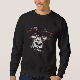 Gorilla-Rot-Gläser Sweatshirt