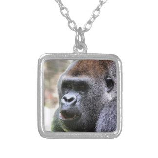 Gorilla sagen versilberte kette