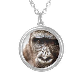 Gorilla Versilberte Kette