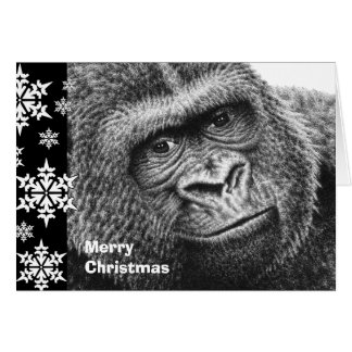 Gorilla-Weihnachtskarte Karte