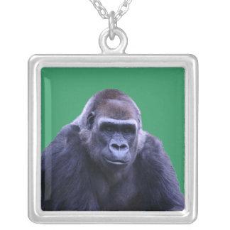 Gorillahalskette Versilberte Kette