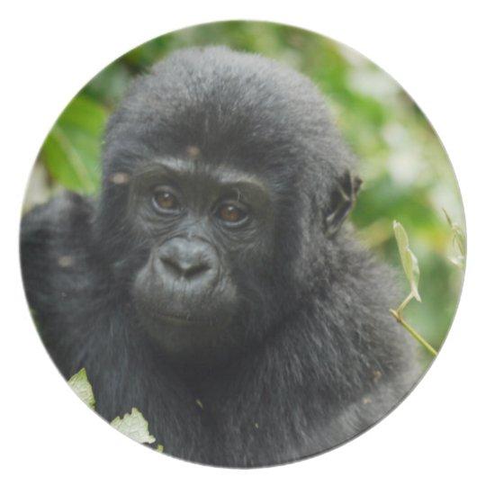 Gorillakind als Teller