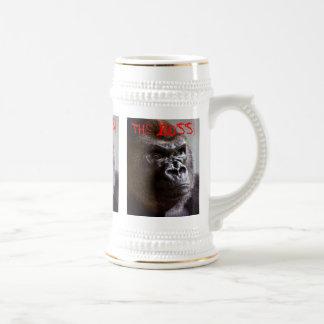 GorillaSilverback Chef-König Sized Stein Tee Tassen
