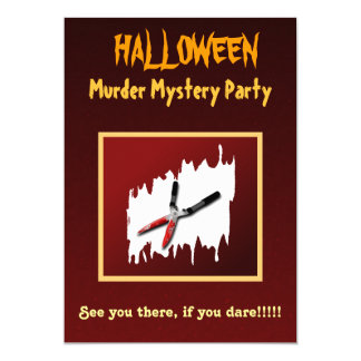 Gory Halloween-Mord-Geheimnis-Party Einladung