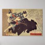 Gosho Gorozō battling zu ninja Posterdruck