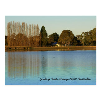 Goslings-Nebenfluss-Verdammung, orange NSW Postkarte