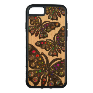 Goth böhmischer flippiger Schmetterlings-Fall Carved iPhone 8/7 Hülle